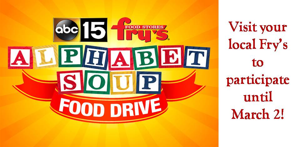 Alphabet Soup Drive Flyer