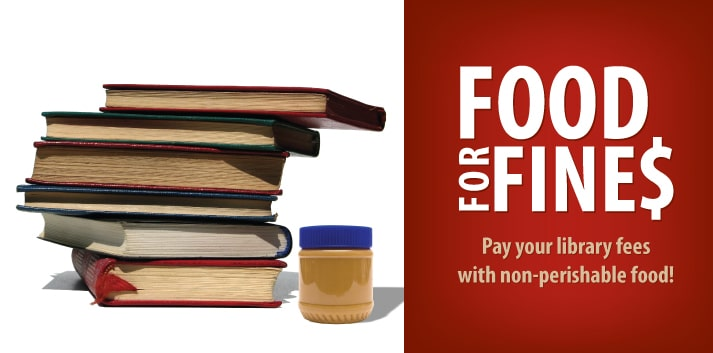 Pay Your Library Fines with Canned Food Donations