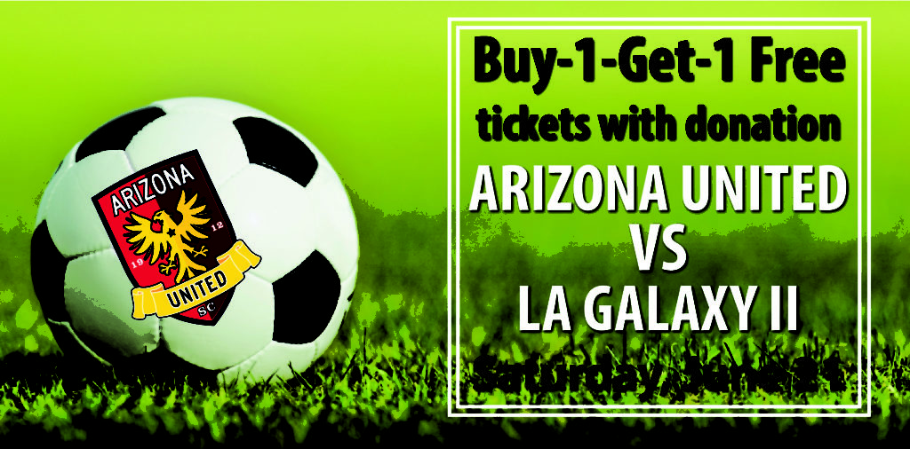 Get free tickets to the AZ United Soccer Game with 5-can donation