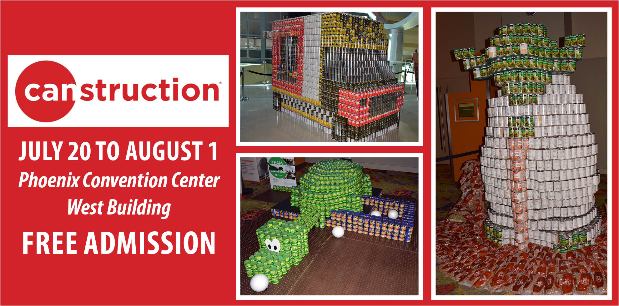 Canstruction rotating