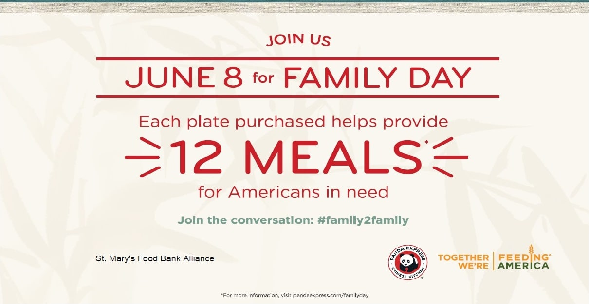 Panda Express to Donate 10% of Sales on June 8th