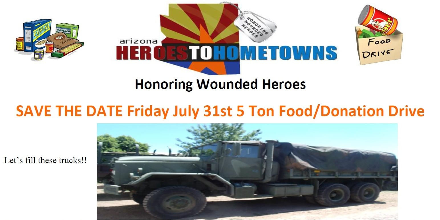 Heroes to Hometowns 5 Ton Food Drive