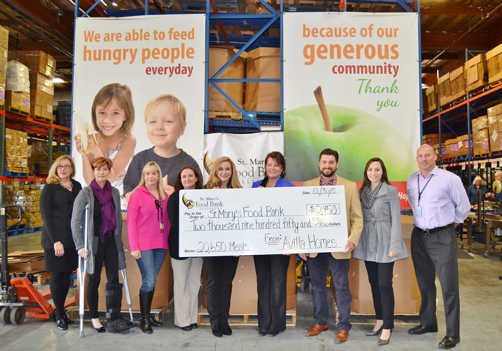 Avilla Homes partners with St. Mary's to Fight Hunger