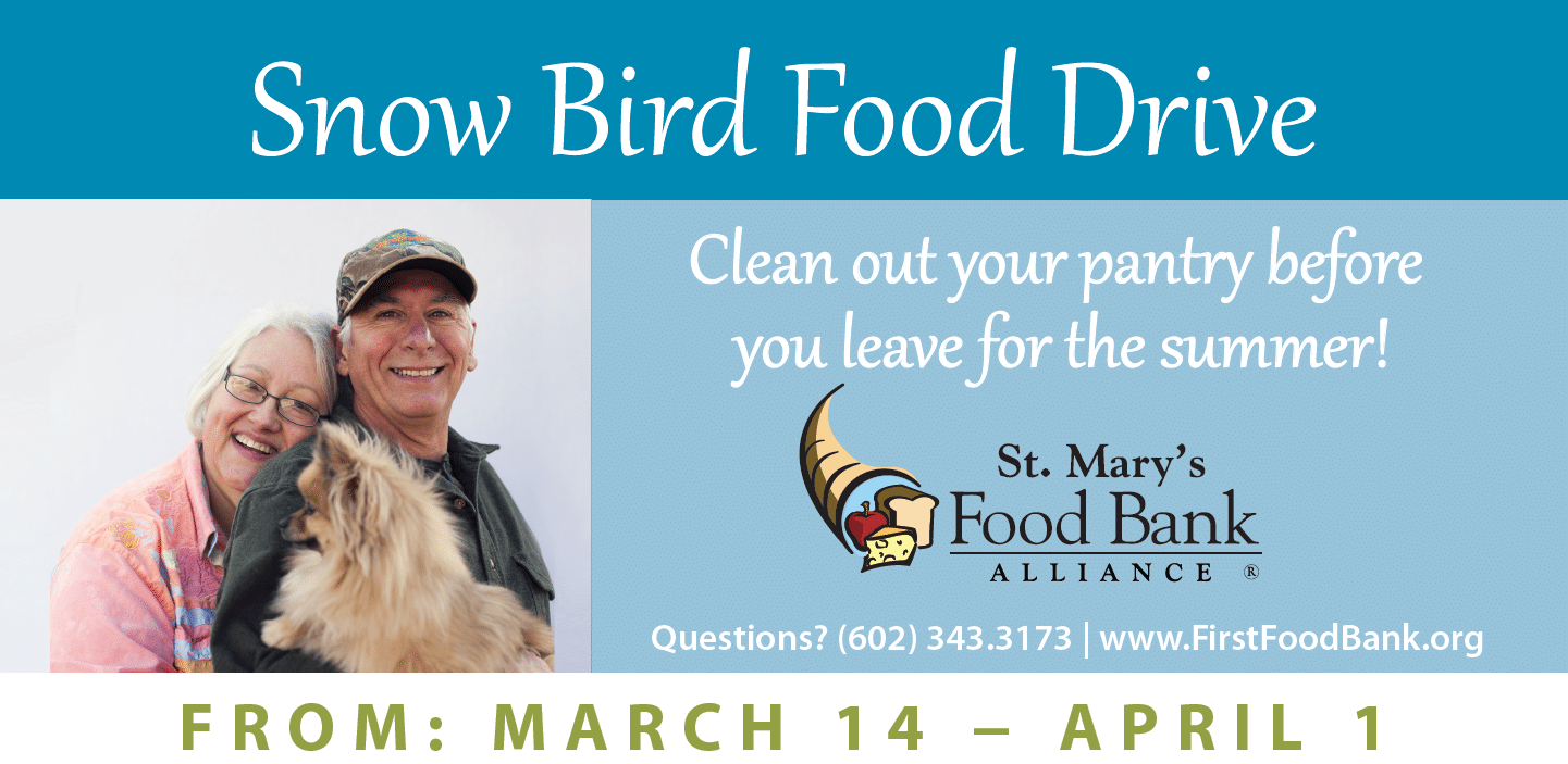 snow bird food drive