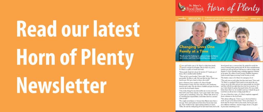 Spring 2016 Horn of Plenty Newsletter