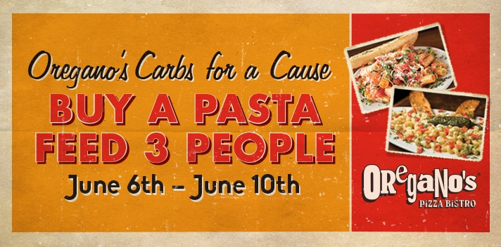 Oregano's Carbs for a Cause