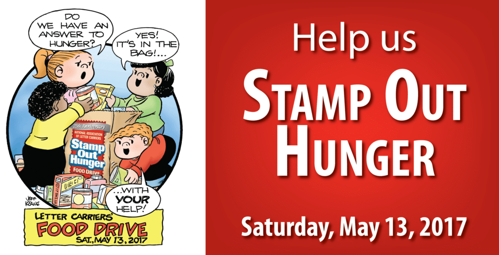 Stamp Out Hunger Food Drive – May 13th