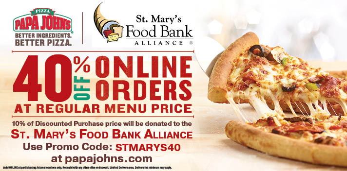 Support St. Mary's with your Pizza Order
