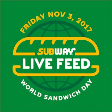 SUBWAY® GOES GLOBAL TO COMBAT HUNGER  ON WORLD SANDWICH DAY FRIDAY, NOV. 3, 2017 2