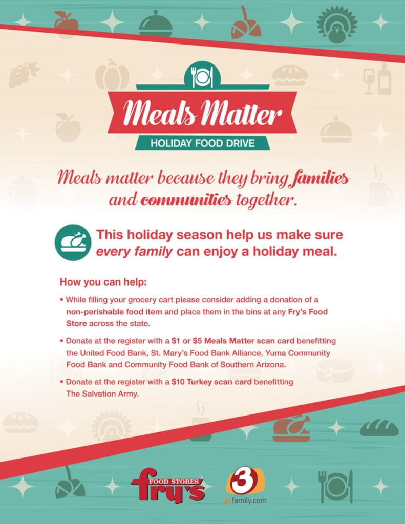 Fry's Meals Matter Holiday Food Drive