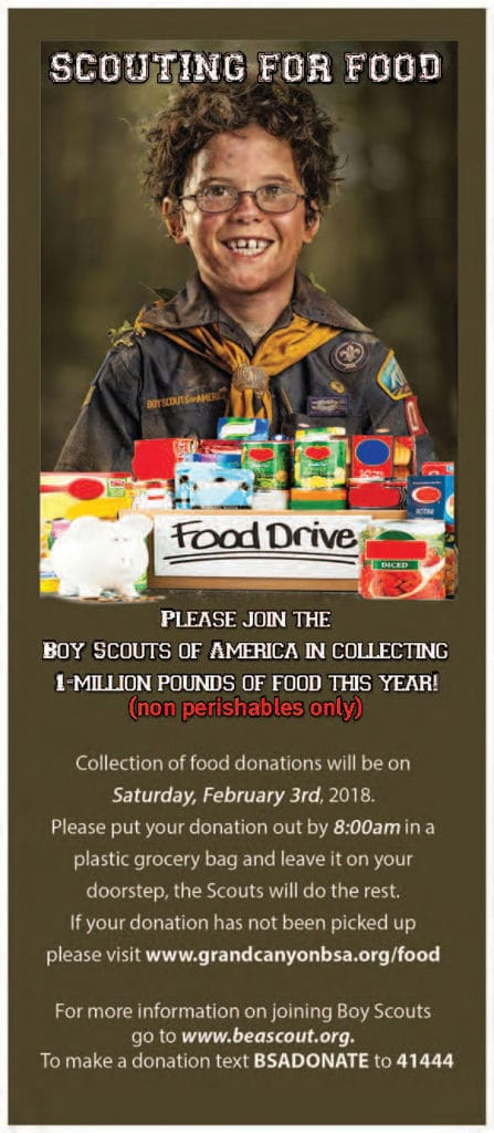 Scouting for Food Annual Food Drive to Benefit Food Banks! 2