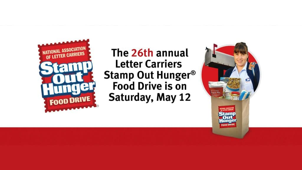 The 26th Annual 'STAMP OUT HUNGER' Food Drive - Saturday, May 12th 1