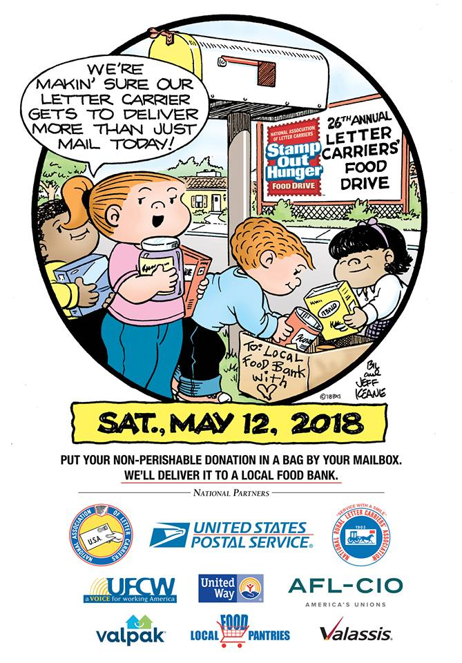 The 26th Annual 'STAMP OUT HUNGER' Food Drive - Saturday, May 12th