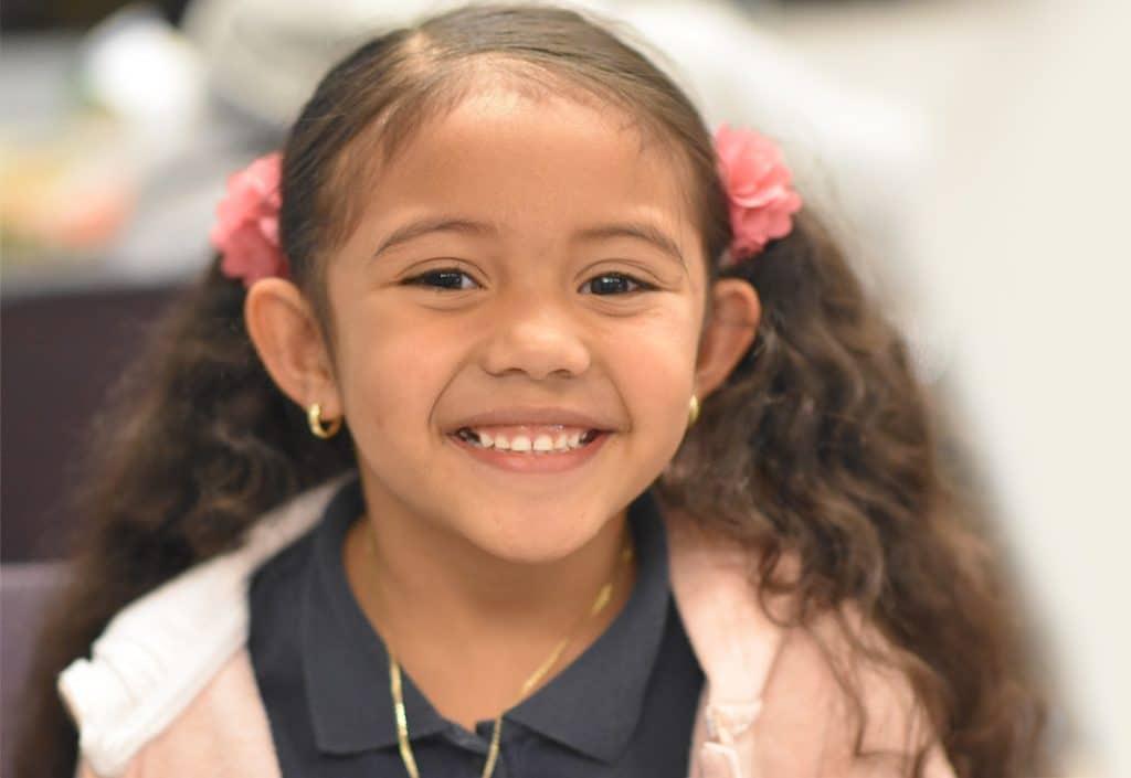 Learn - little girl smiling