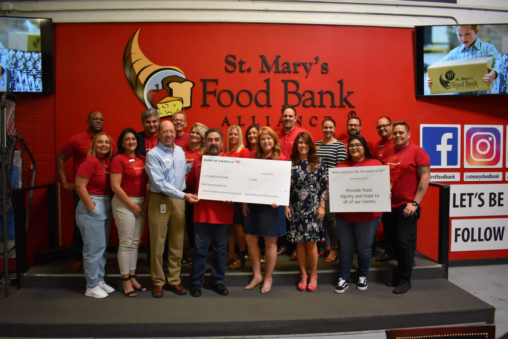 Corporate Giving St. Mary's Food Bank